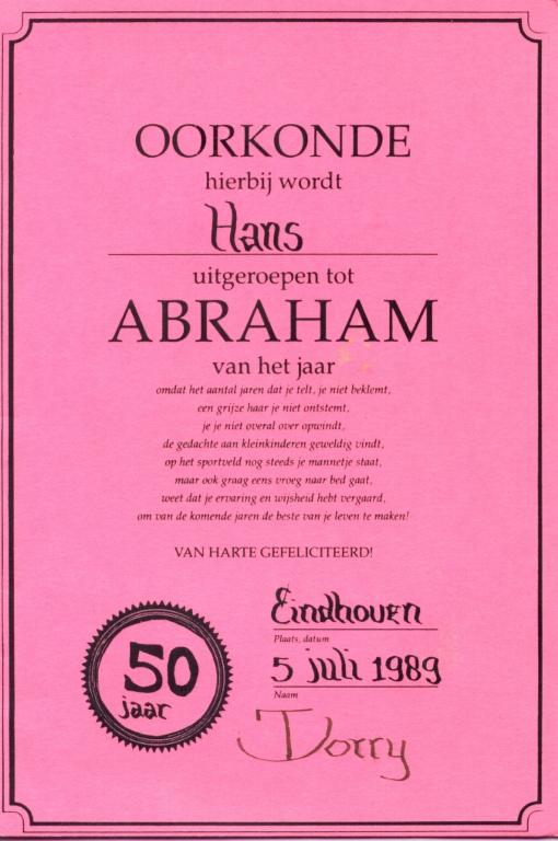 abraham 50 jaar traditie 50 Jaar Waar Abraham Mosterd Haalt   ARCHIDEV abraham 50 jaar traditie